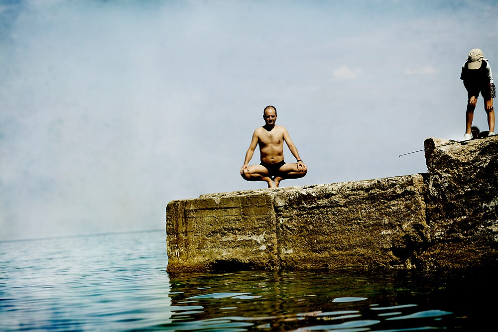 Yoga by the sea by Wari Om  Yoga Photography