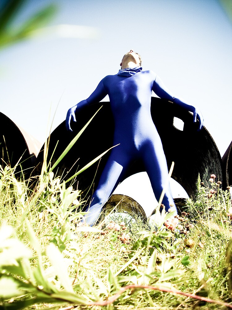 A Day in Blue Zentai lomo 03 by mdkgraphics