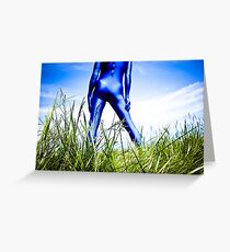 A Day in Blue Zentai lomo 04 Greeting Card