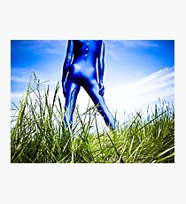 A Day in Blue Zentai lomo 04 Photographic Print