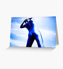 A Day in Blue Zentai lomo 05 Greeting Card