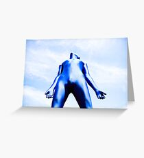 A Day in Blue Zentai lomo 07 Greeting Card