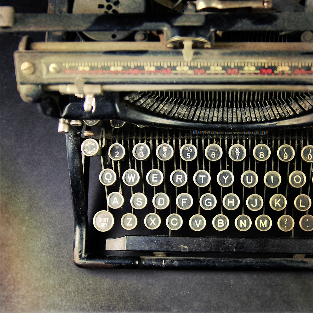 Typewriter From Above by Robert Baker