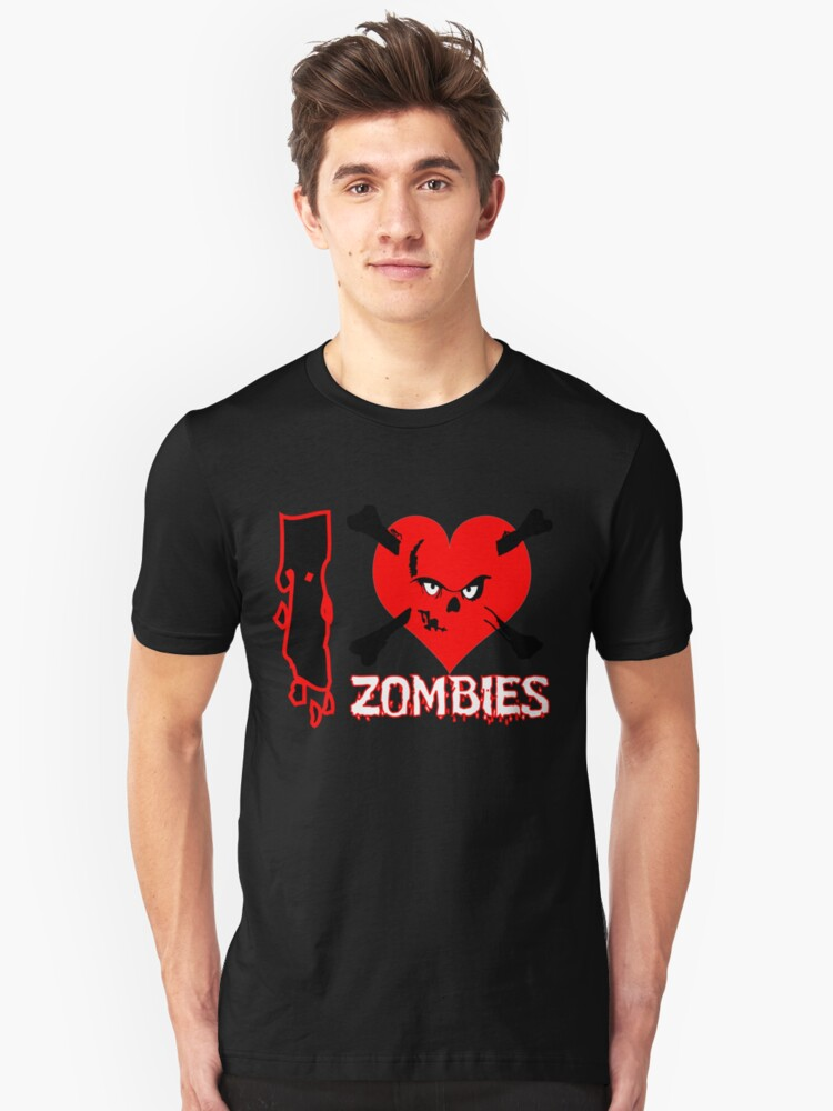 I heart zombies Unisex T-Shirt Front