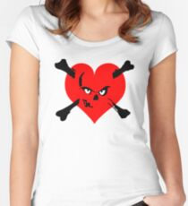 I heart zombies Women's Fitted Scoop T-Shirt