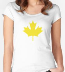 Maple leaf Women's Fitted Scoop T-Shirt
