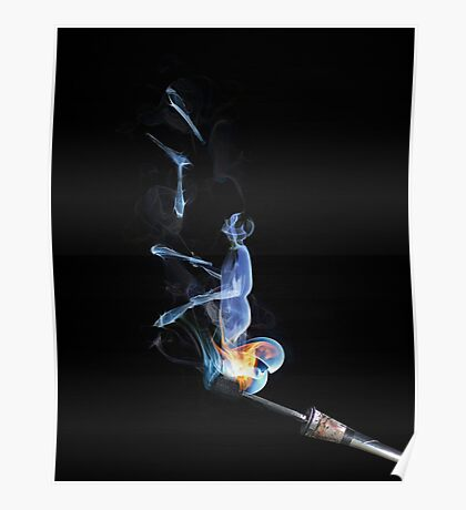 Juggling Smoke Poster