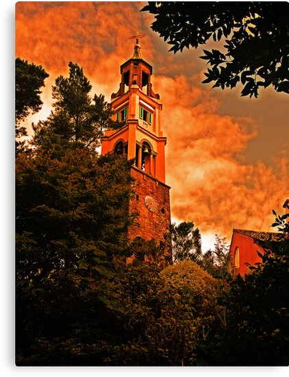 Portmeirion  Bell Tower by andonsea