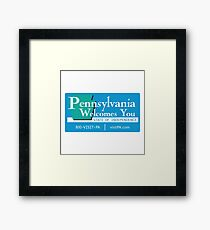 Welcome to Pennsylvania, Road Sign, USA  Framed Print