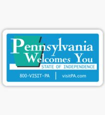 Welcome to Pennsylvania, Road Sign, USA  Sticker