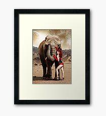 Elephants & Showgirls Framed Print