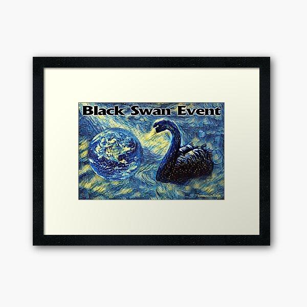 Black Swan Event Framed Art Print