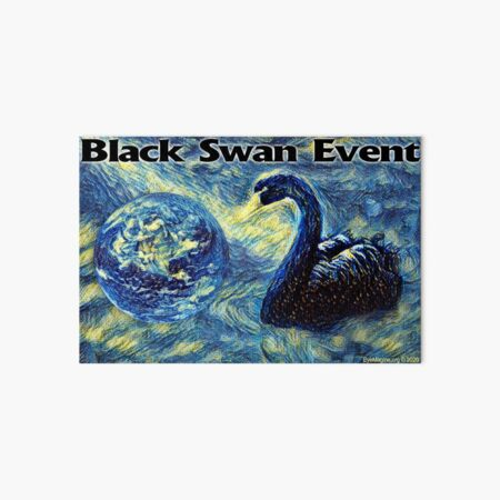 Black Swan Event Art Board Print