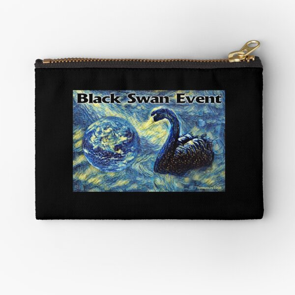 Black Swan Event Zipper Pouch