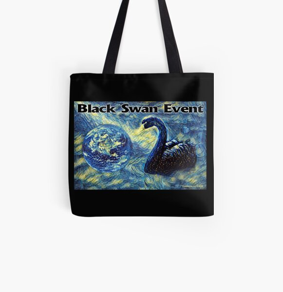 Black Swan Event All Over Print Tote Bag
