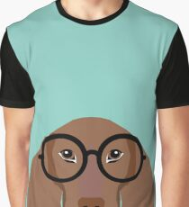 Remy - Fashion Glasses Doxie Dashcund Hipster Dog  Graphic T-Shirt