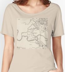 Canberra Tourist Map 1950 Women's Relaxed Fit T-Shirt