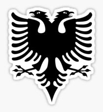 albania eagle 2 heads Sticker