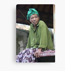 Balinese man, Ubud Canvas Print