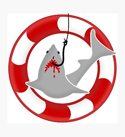 Shark on the hook VRS2 Photographic Print