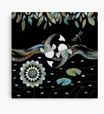 Lucky Koi Mandala Canvas Print