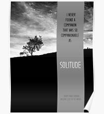 Henry David Thoreau - Solitude Poster