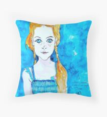 Blue Eyed Mia Throw Pillow