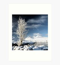 Glencoe winter scenery Art Print