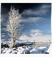 Glencoe winter scenery Poster