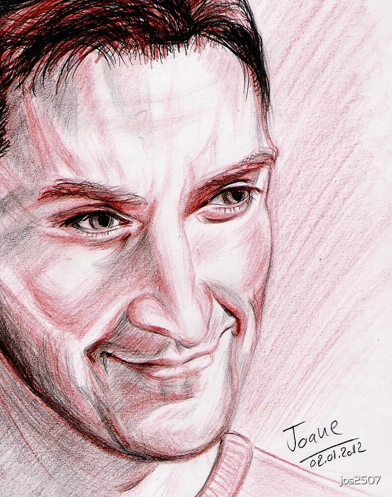 Richard Armitage, red chalk portrait by jos2507
