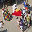 Selling Table Clothes - Vendiendo Manteles en el Malecón by PtoVallartaMex