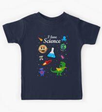 Camiseta para niños Yo amo la ciencia