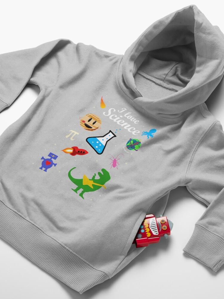 Alternate view of I Love Science Toddler Pullover Hoodie