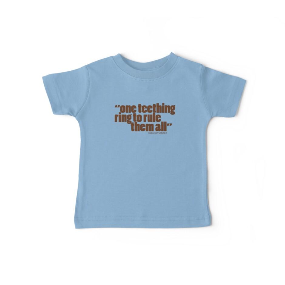 'one teething ring...' by minimovienerd