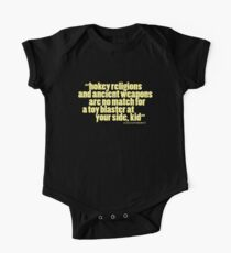 'hokey religions and ancient weapons...' Kids Clothes