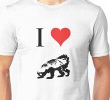 I Love Honey Badger Unisex T-Shirt