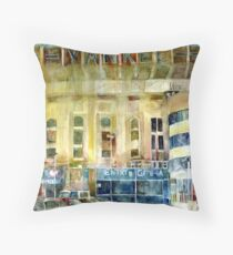 Yankee Stadium, Bronx, New York Art Watercolor Print Throw Pillow