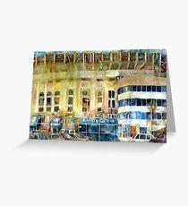 Yankee Stadium, Bronx, New York Art Watercolor Print Greeting Card
