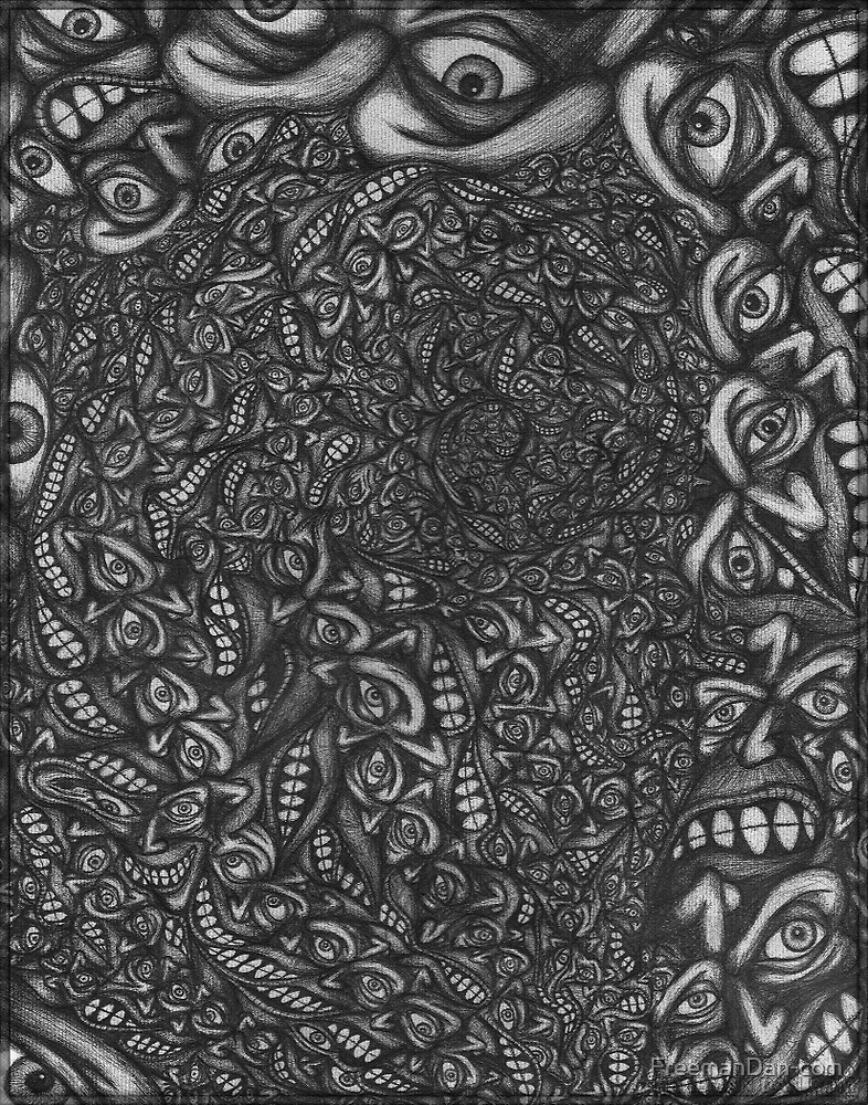 Facepage 04 - Psychedelic faces  by FreemanDan-com