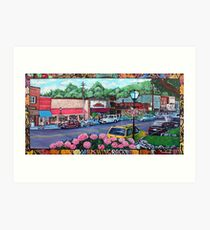 'Downtown Blowing Rock' Art Print