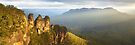 Three Sisters Sunset, Blue Mountains, NSW, Australia by Michael Boniwell