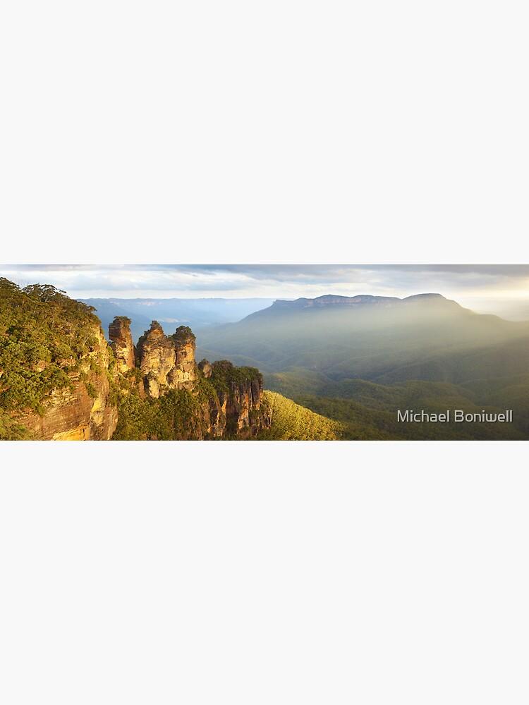 Three Sisters Sunset, Blue Mountains, NSW, Australia by Chockstone
