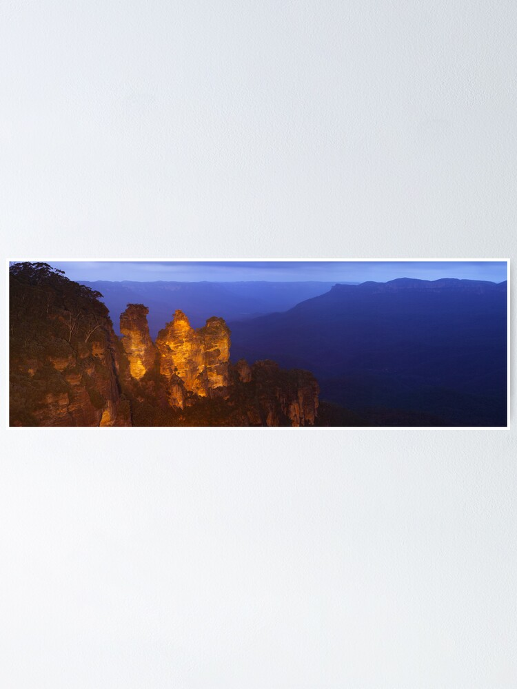 Alternate view of Three Sisters Dusk, Blue Mountains, Australia Poster