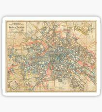 Vintage Map of Berlin Germany (1904) Sticker