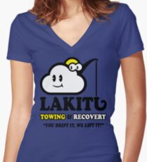 LAKITU TOWING Women's Fitted V-Neck T-Shirt