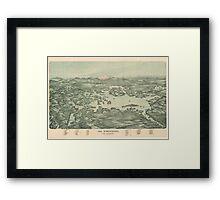Vintage Pictorial Map of Lake Winnipesaukee (1903)  Framed Print