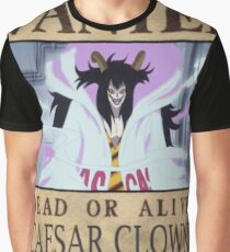 Wanted Caesar Clown - One Piece Graphic T-Shirt