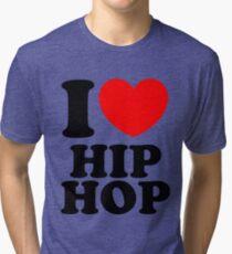 """""""I Heart Hip Hop"""" Tri-blend T-Shirt"""