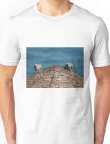 A Pair Of Doves On A Woven Sun Parasol T-Shirt