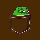 Pocket Pepe The Frog by Dumb Shirts